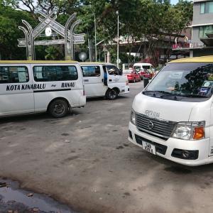 コタキナバルからキナバル公園へのバスでの行き方・帰り方