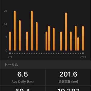 【振り返り】2019年7月、月間200km達成