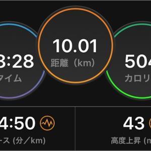 2020/09/27 月例マラソン10km