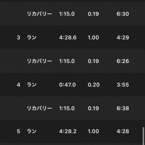 2020/11/20 (1km+200m)×3