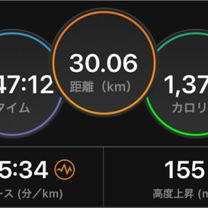 2021/1/20 30km走(Eペース)