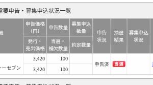 【当選】IPO結果〜トゥエンティーフォーセブン〜