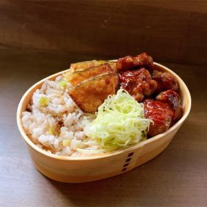 豚コマ肉団子とかぼちゃのザクザク天ぷら弁当