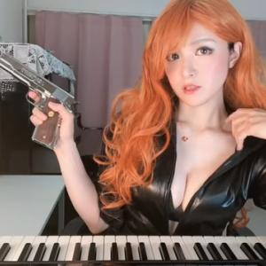 【朗報】おっぱい過ぎるピアニスト高木里代子 コスプレで悩殺パフォーマンス
