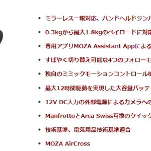 Moza AircrossにFDR-x3000を装着の工夫
