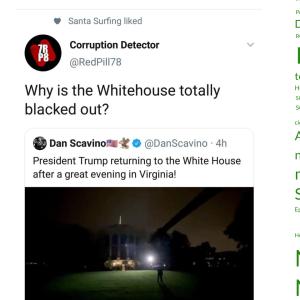 ホワイトハウスのブラックアウト!(今)