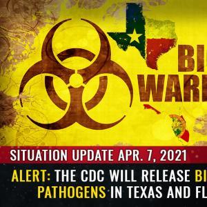 状況の更新、4月7日:アラート– CDCは、ワクチンのパスポートを拒否する州を罰するために、テキサスとフロリダで生物兵器の病原体をリリースします
