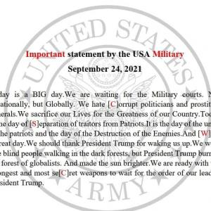米軍による重要な声明