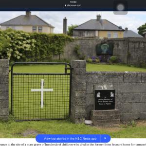 アイルランド,下水道タンクで800人の赤ちゃんを発見したとされる事件を調査