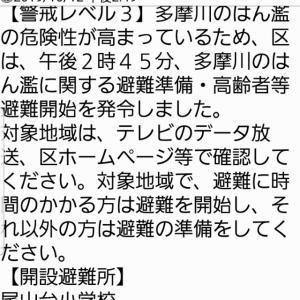 世田谷区避難準備情報発令( 10/12PM14:54)