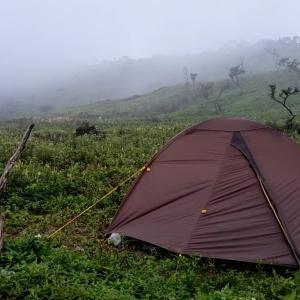霧の藤原岳でテント泊。・*☆