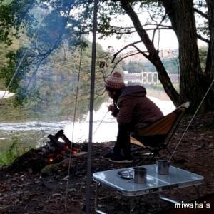 直火を楽しめる岩倉ダムキャンプ場。・*☆
