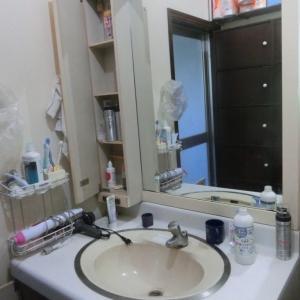親の家を片付ける(10) 洗面所 before