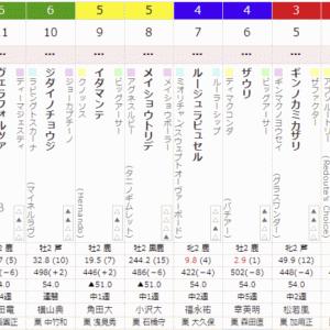 3R 2021/9/19(日) 5回中京4日目  サラ系2歳未勝利  出資馬メルヴィル出走