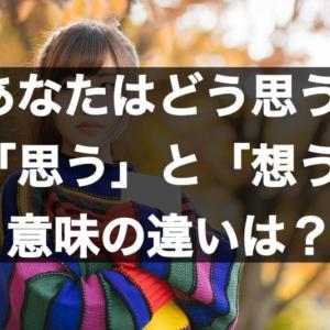 【あなたはどうおもう?】「思う」と「想う」の意味の違いは?使い分けは?