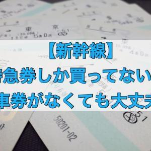 新幹線の特急券のみしか買ってないけど大丈夫?乗車券が無いと乗れない?