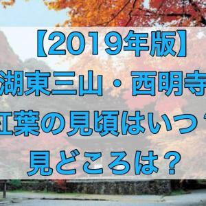 湖東三山・西明寺の紅葉2019年の見頃や見どころ情報をお届け!