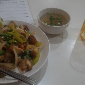 ビエンチャン市内のローカル食堂 店名不明(記事内のGoogle Map参照)