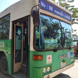 ビエンチャンバス案内 8番 北バスターミナル線(タラートサオ⇒北バスターミナル(Northern Bus Terminal))