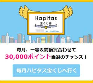 毎月ハピタス宝くじで☆