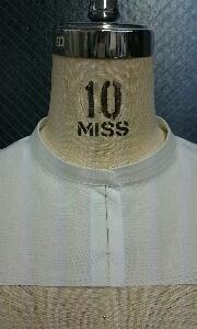 サンプルの修正!衿の部分縫いをつくりました。