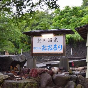 熱川温泉ホテルおおるりへ雨の中行ってきたっぺ(^▽^)