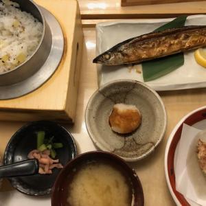 【倉敷イオン】五穀でサンマと牛タンの定食ランチ