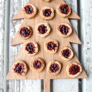 ブラックベリージャムのクッキー