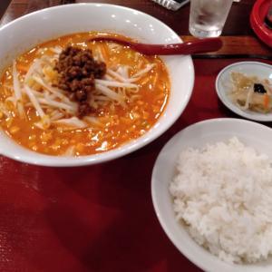 川崎駅西口から徒歩6分の「中華料理 大連餃子」にて、旨辛い風味の「担担刀削麺」を、半ライスとともに食べてみた