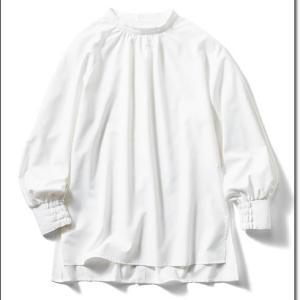 防汚加工素材の白いシャツ!これなら汚れの心配がいらない。