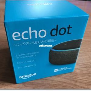 我が家に「Echo Dot(エコードット)」がやってきた!
