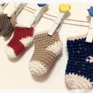 ミニチュアくつ下の編み方How to crochet miniature socks  by meetang