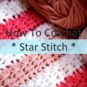 スタークロッシェの編み方(Star Crochet)  / How To Crochet * Star Stitch * design A