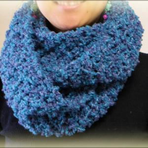 スヌードの編み方・作り方【かぎ編み100均糸で簡単♪】 diy crochet cowl tutorial