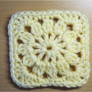四角モチーフ4 かぎ編みの基本 How to Crochet Square Motif / Crochet and Knitting Japan