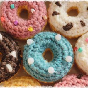 ドーナツの作り方・編み方【かぎ編み】 diy crochet donut tutorial