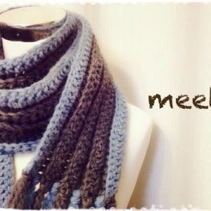 かぎ針で編むマフラーの編み方  How to crochet a muffler