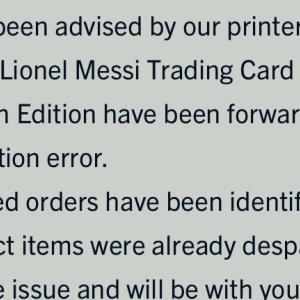 Topps メッシのサイン版 誤配送だけど届きそう?
