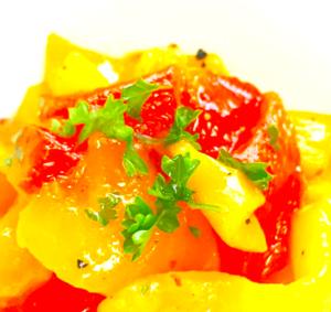 アンチエイジングを助けるイタリアの簡単ペペロナータのレシピ