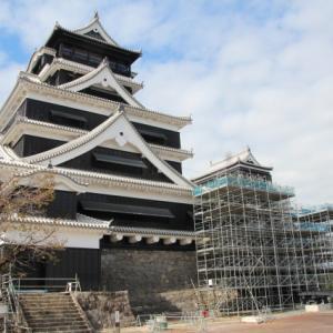 熊本に移動して、熊本城の現状を視察する
