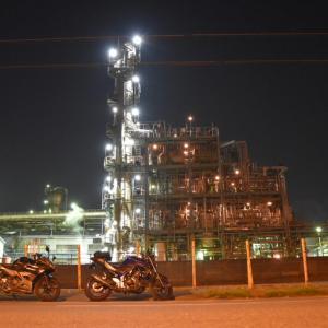 【工場夜景ツーリング】神奈川県川崎市にある工場地帯の夜景が凄い!!千鳥町8番地にて!!