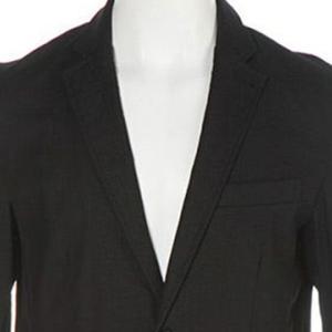 【テーラードジャケット】綿麻ストレッチ テーラードジャケット (ブラック) 商品番号 S4645