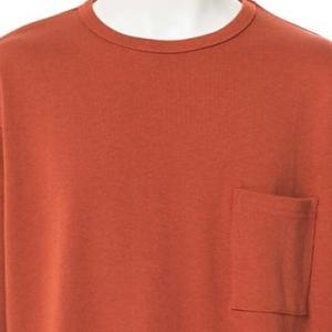 【長袖Tシャツ】ドロップショルダー長袖Tシャツ (テラコッタ) 商品番号 S5455