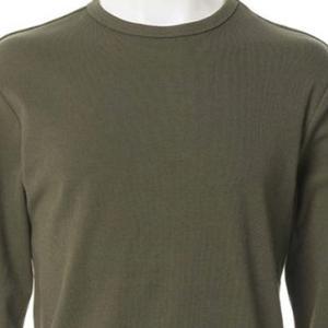 【長袖Tシャツ】スパンテレコクルーネック Tシャツ (カーキ) 商品番号 S5961