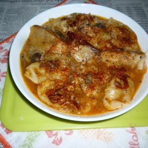 シャンタンDXでピリ辛豪華海鮮鍋~〆の餃子
