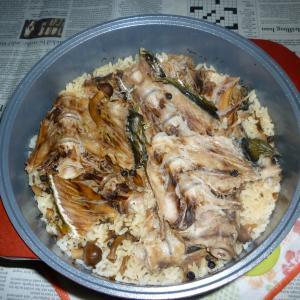 無加水鍋でぶりアラの炊き込みご飯