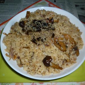 ぶりアラの炊き込みご飯でカフェ丼+おじゃこ昆布