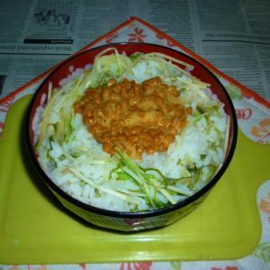 水菜粥・改1(+納豆)