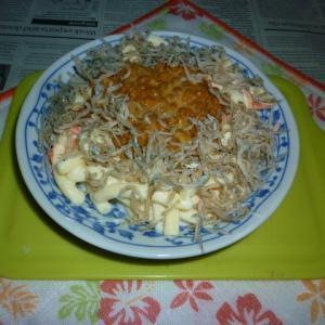 マカロニ・サラダ+納豆&おじゃこのタパス
