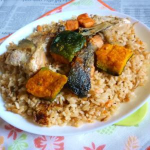 銀鮭のアラの焼き鮭の炊き込みご飯でカフェ丼Ver.2